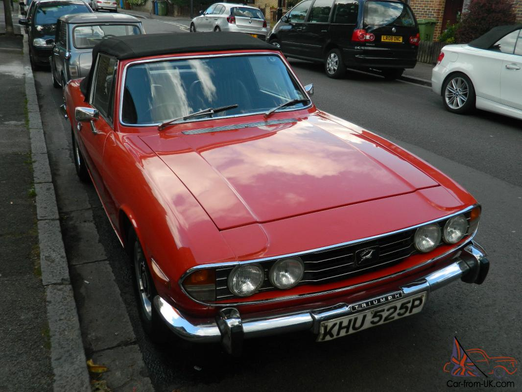 Triumph Stag 1976 Mk 2 Only Previous Owners New Mot Tax Original 1959 Tr3 Wiring Diagram V8
