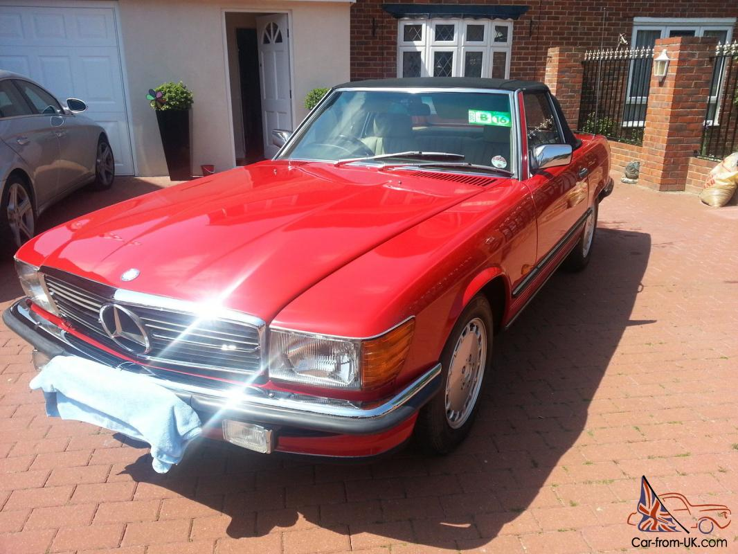 mercedes 1986 r107 w107 420sl fully restored signal red. Black Bedroom Furniture Sets. Home Design Ideas