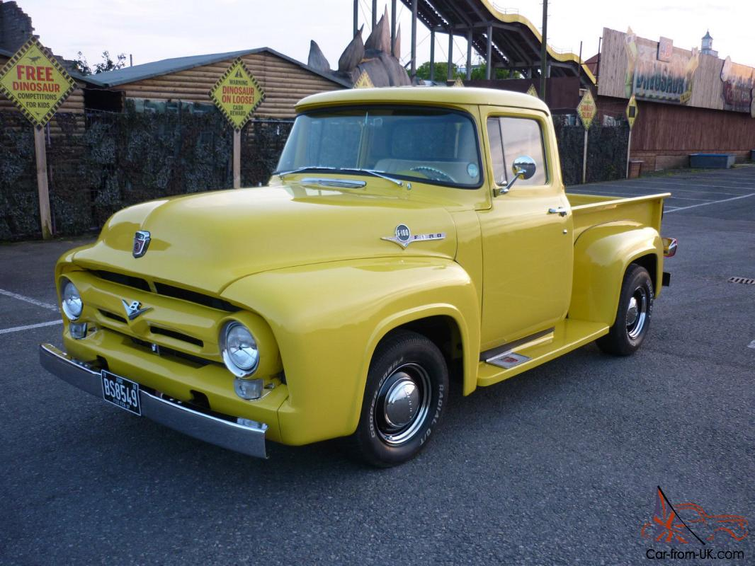 ford f100 pickup 1956 v8 auto classic f 100 chevy apache stepside. Black Bedroom Furniture Sets. Home Design Ideas