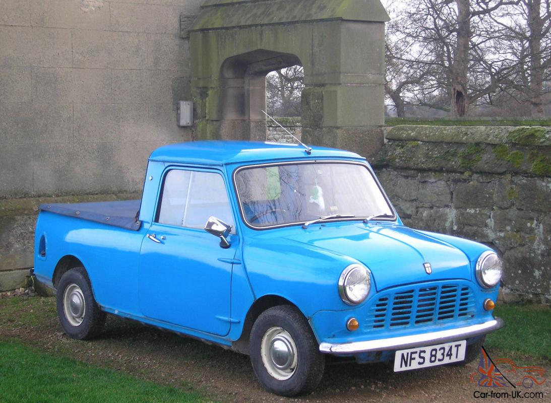 classic 1979 blue austin mini pickup truck with mot and tax. Black Bedroom Furniture Sets. Home Design Ideas