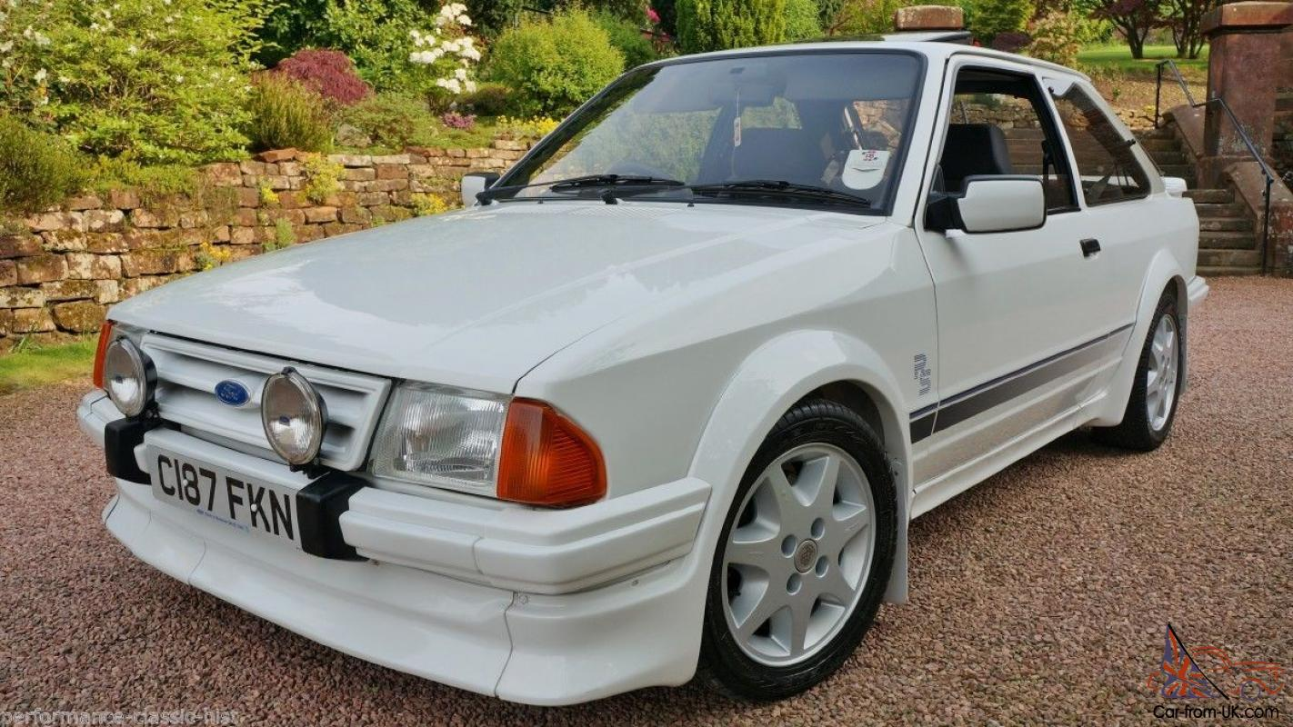 stunning 1986 ford escort rs turbo custom s1 full history file. Black Bedroom Furniture Sets. Home Design Ideas