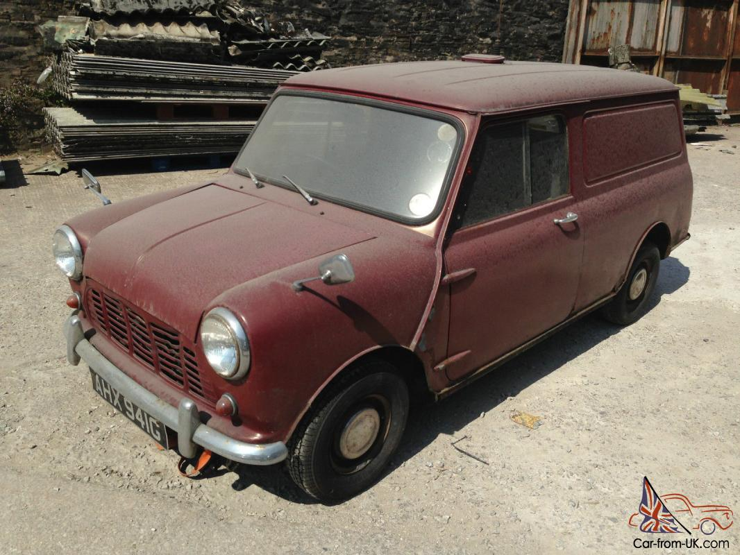 1969 Original Classic Morris Mini Van Barn Find For Restoration Spares