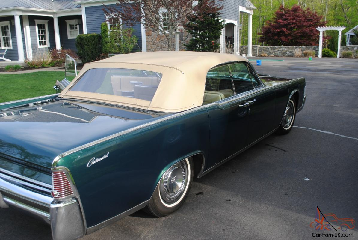 1965 lincoln continental convertible mechanically restored. Black Bedroom Furniture Sets. Home Design Ideas