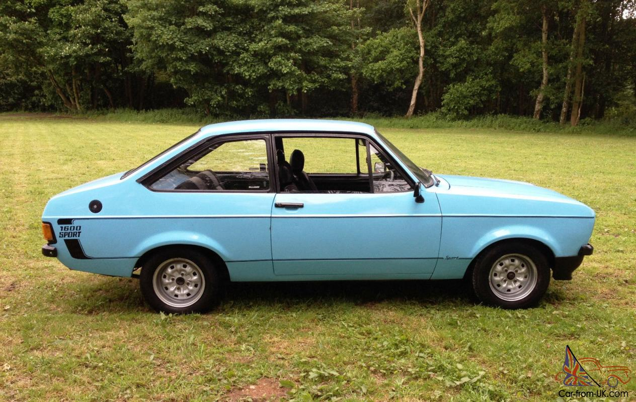1979 ford escort 1600 sport mk2 blue fitted 2 0lt pinto 5 speed rally rs2000. Black Bedroom Furniture Sets. Home Design Ideas
