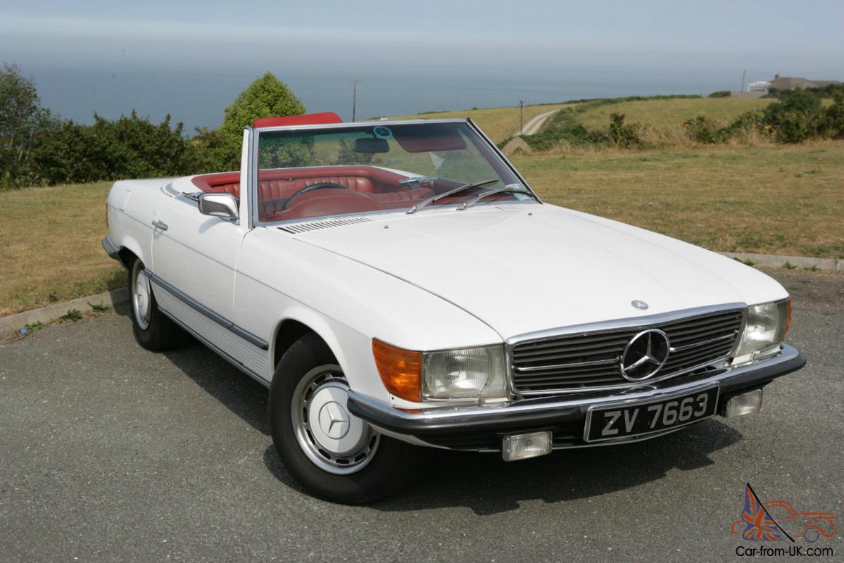 Mercedes 350sl 1973 Classic White With Red Interior