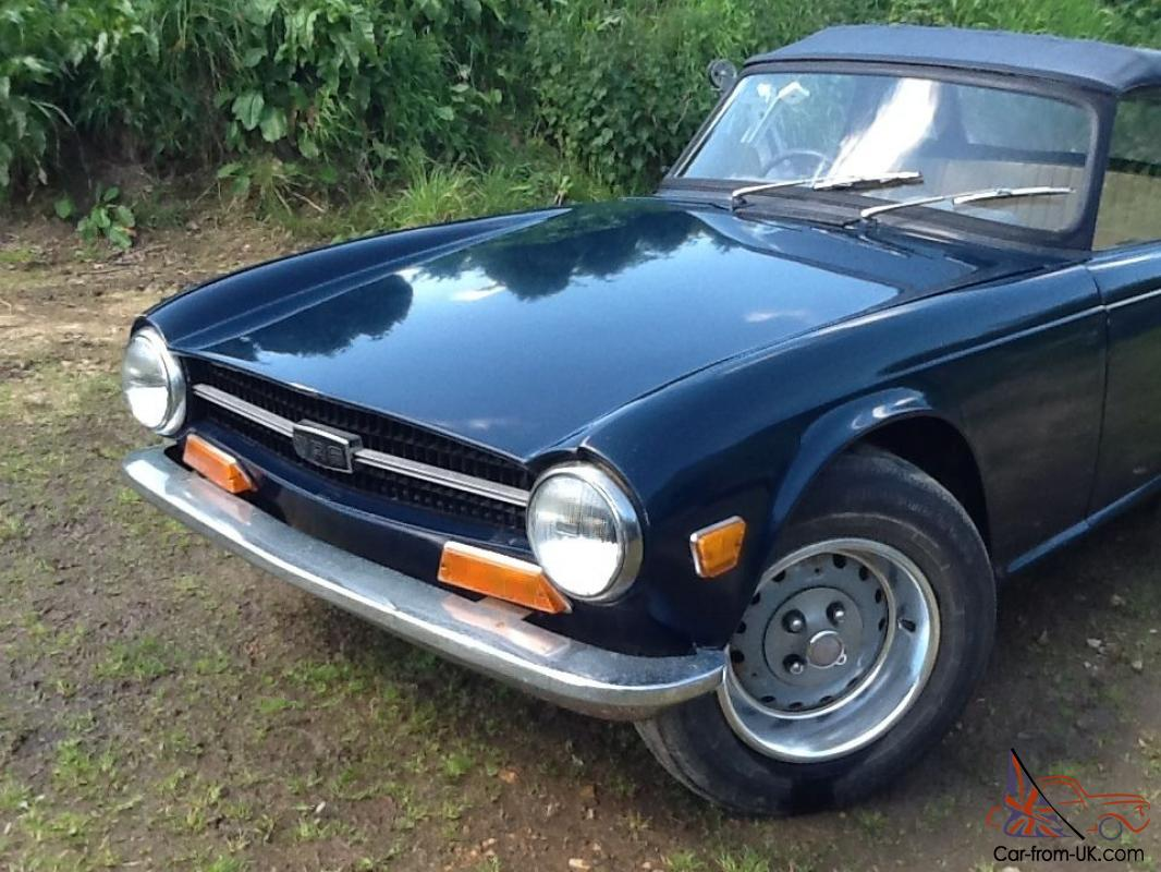 1969 Triumph Tr6 Convertible Classic Car 150hp Fuel Injection