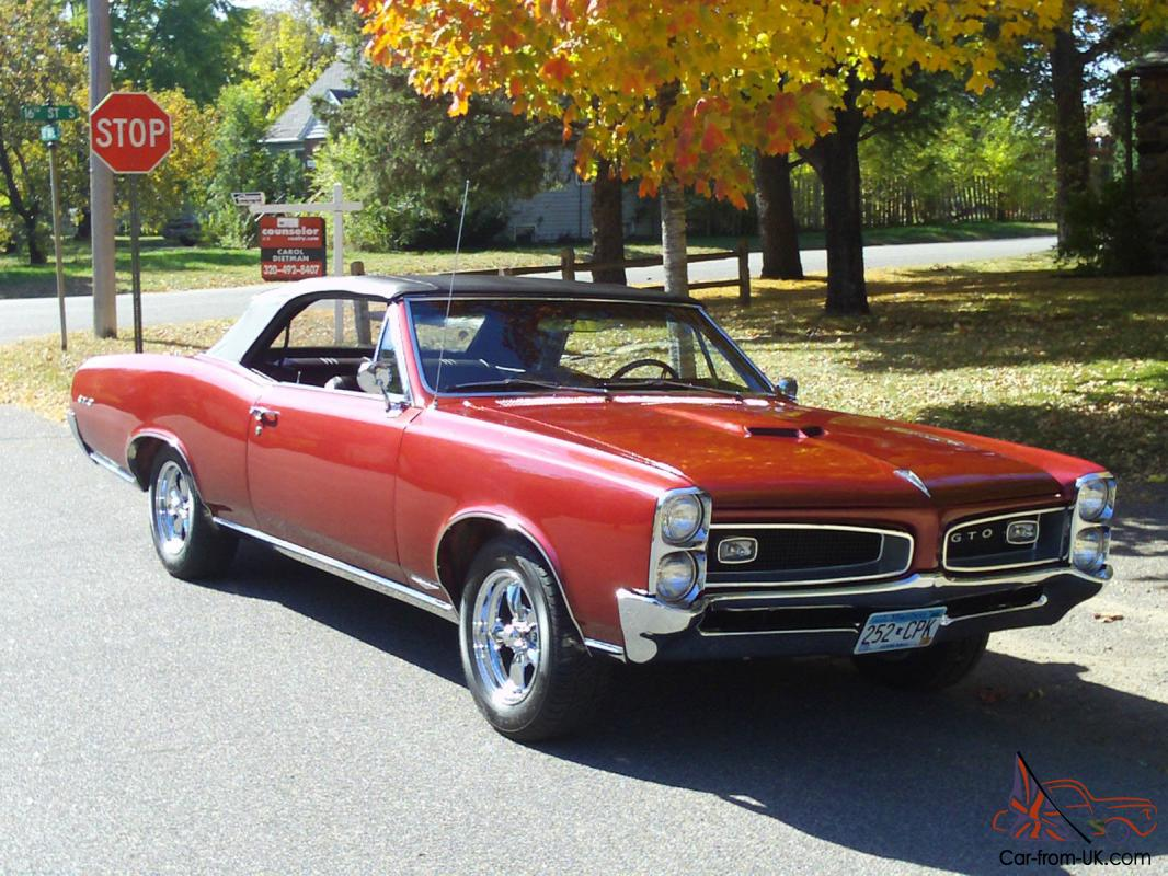 1966 gto convertible for sale