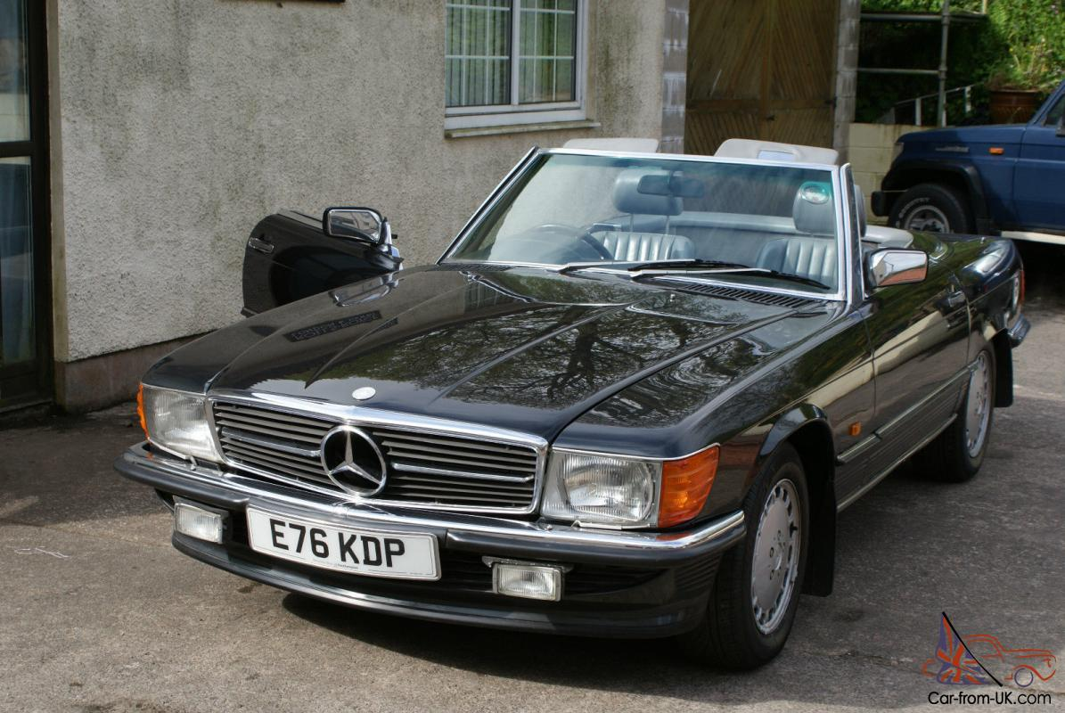 1988 mercedes benz 420sl r107 convertible charcoal auto. Black Bedroom Furniture Sets. Home Design Ideas