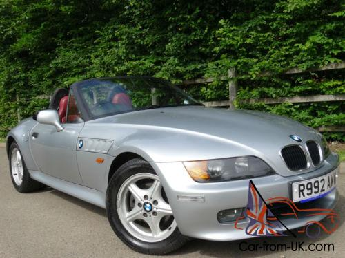 1997 R Bmw Z3 2 8 Roadster Manual In Silver With Complmenting Red Leather