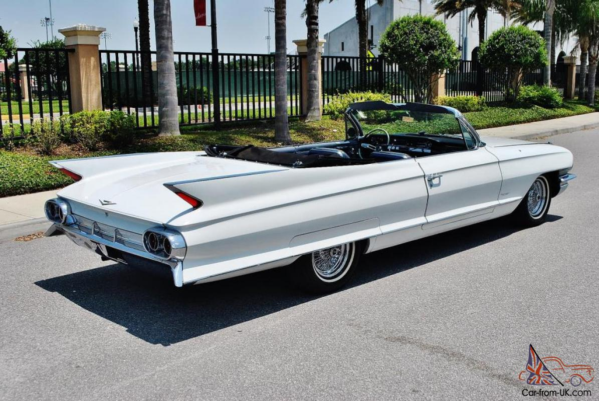 World class restored 1961 cadillac deville convertible wire wheels simply sweet - Cadillac coupe deville a vendre ...