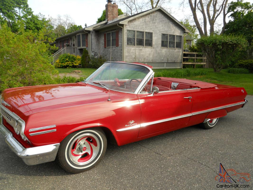 Classic 63 chevy impala convertible muscle car with a 305 for 305 chevy motor for sale