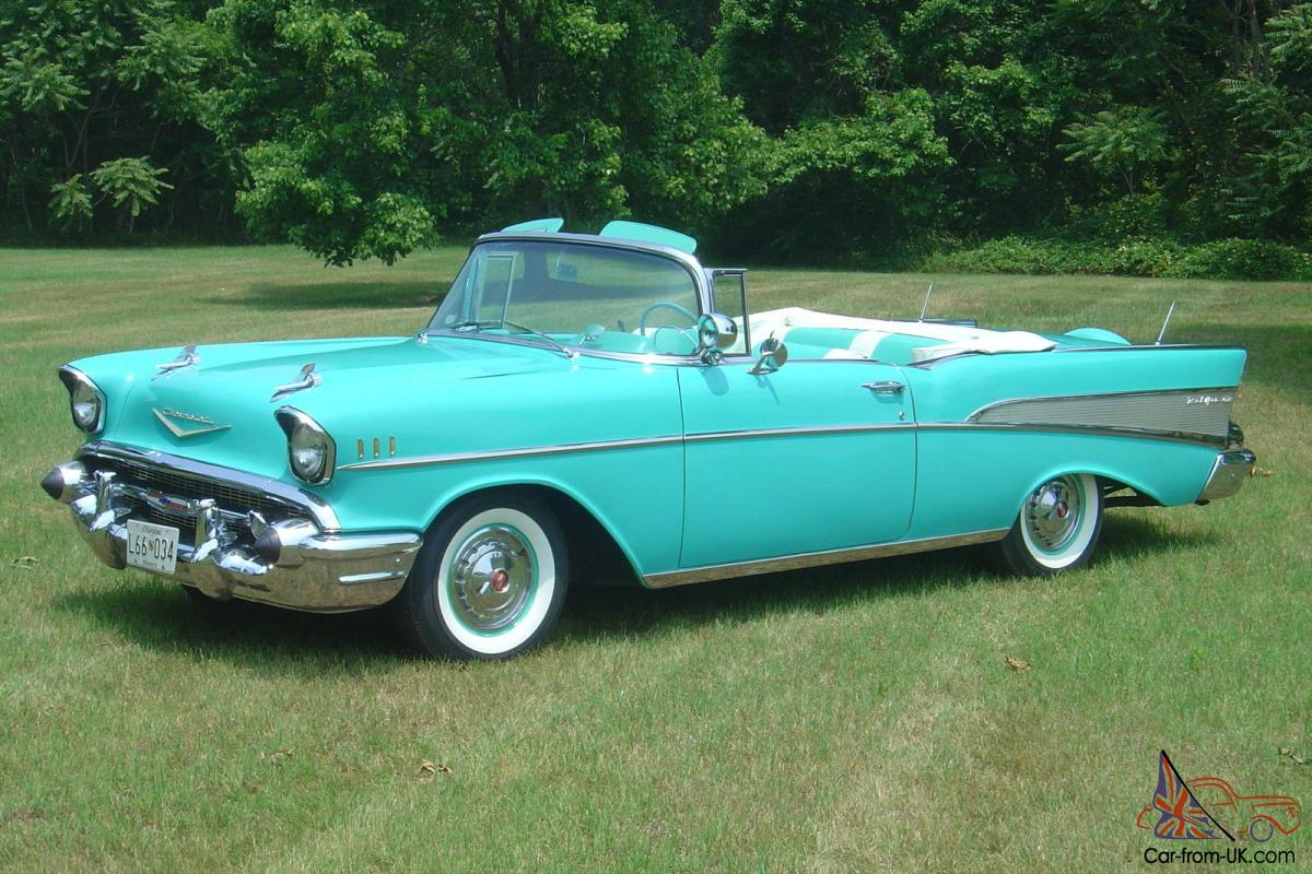 1957 Chevrolet Bel Air Convertible 2 Door 283 Power Pac 4bbl