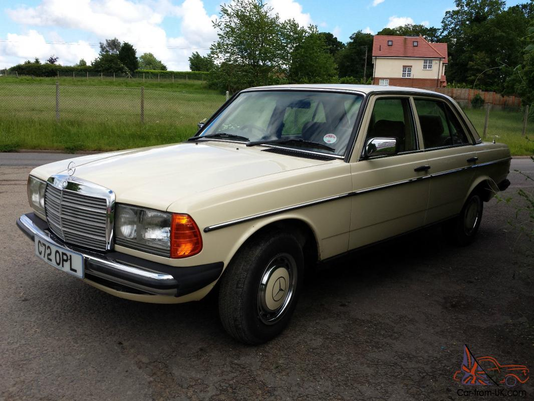 1986 mercedes benz 230e w123 saloon 5 speed automatic for Mercedes benz mileage