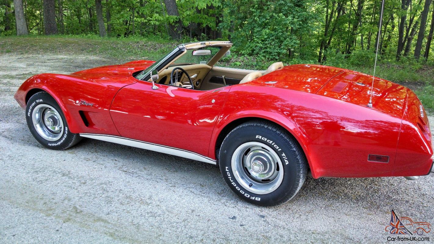 1975 chevrolet corvette convertible l 82