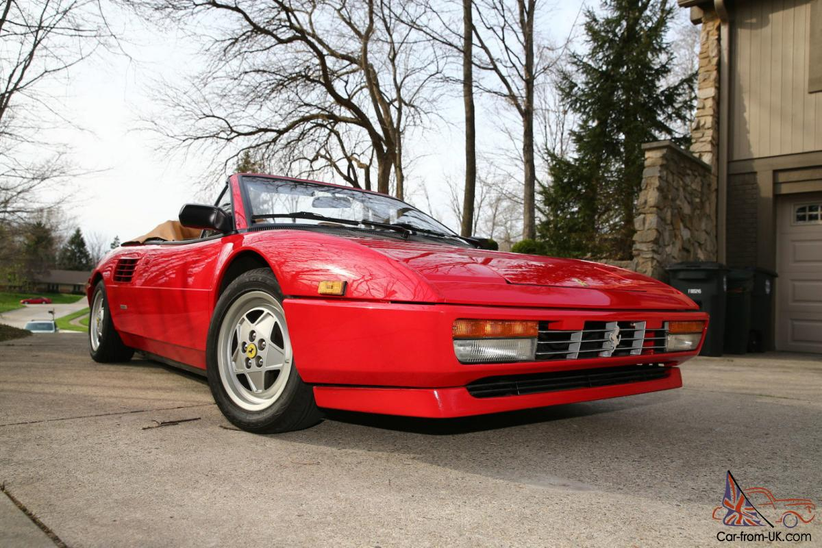 1989 ferrari mondial t cabriolet convertible 2 door 3 4l. Black Bedroom Furniture Sets. Home Design Ideas
