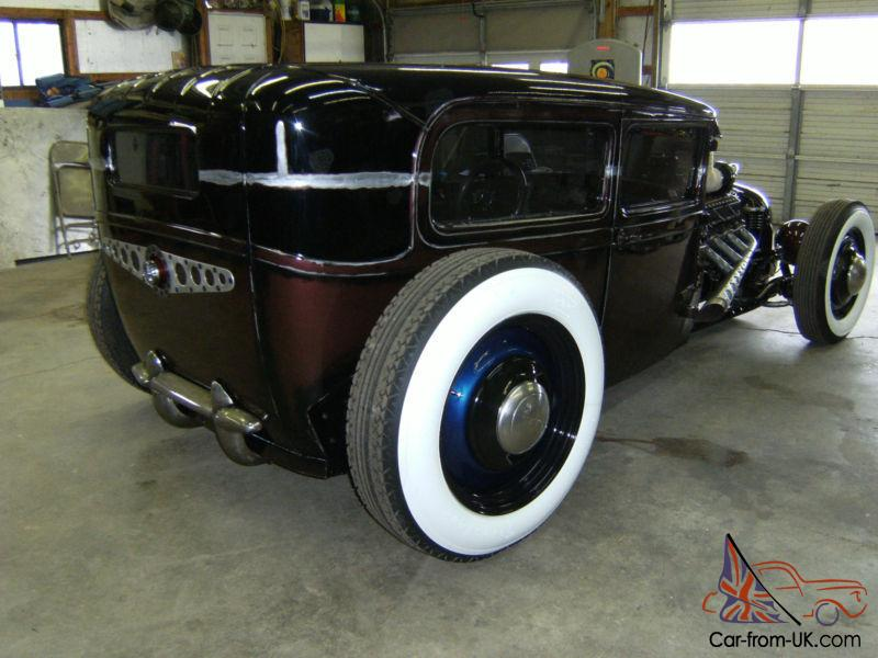 FORD MODEL A TUDOR, RAT ROD, HOT ROD, BIG BLOCK CADDIE MOTOR,SUNROOF ...