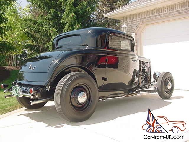 1932 ford 3 window coupe 350 chevy 3x2 engine nostalgia for 1932 ford 3 window coupe hot rod