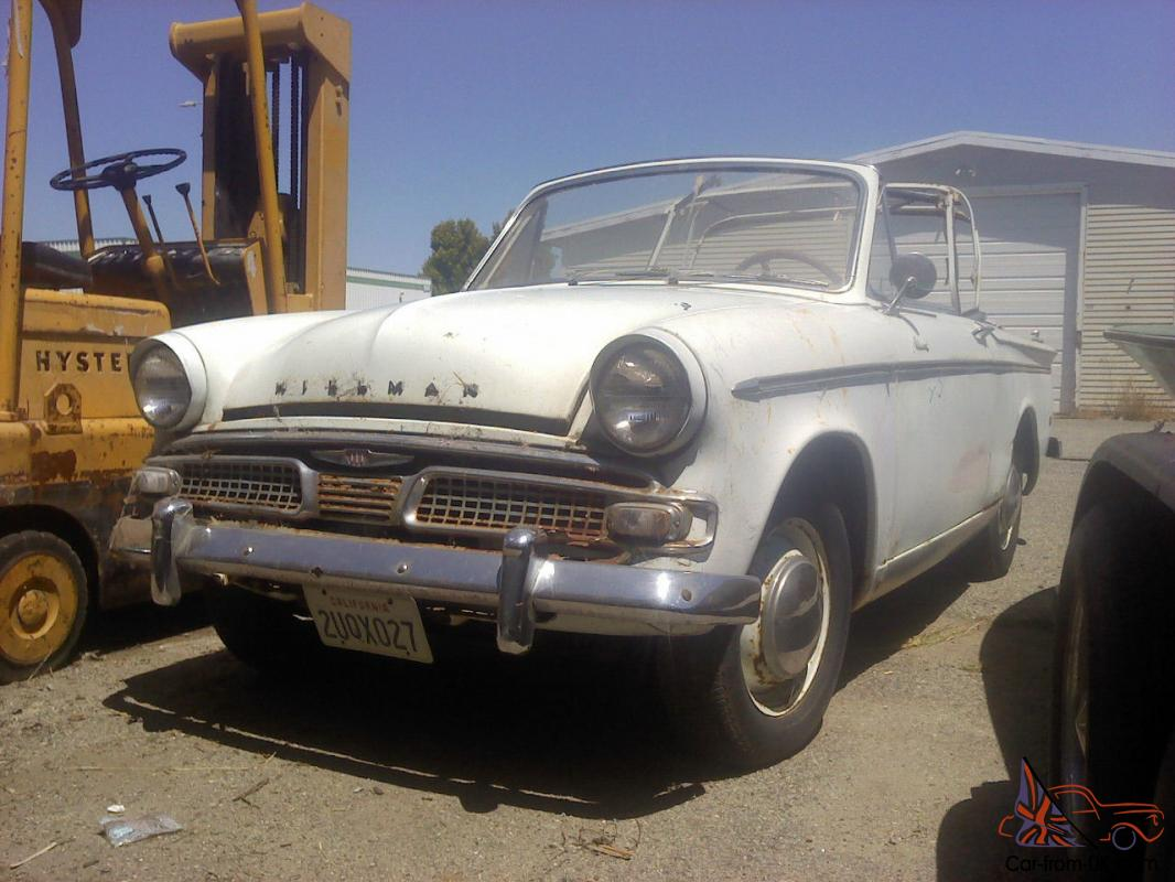 Hillman Minx Convertibles 1961 And 1962 Projecsts For Sale