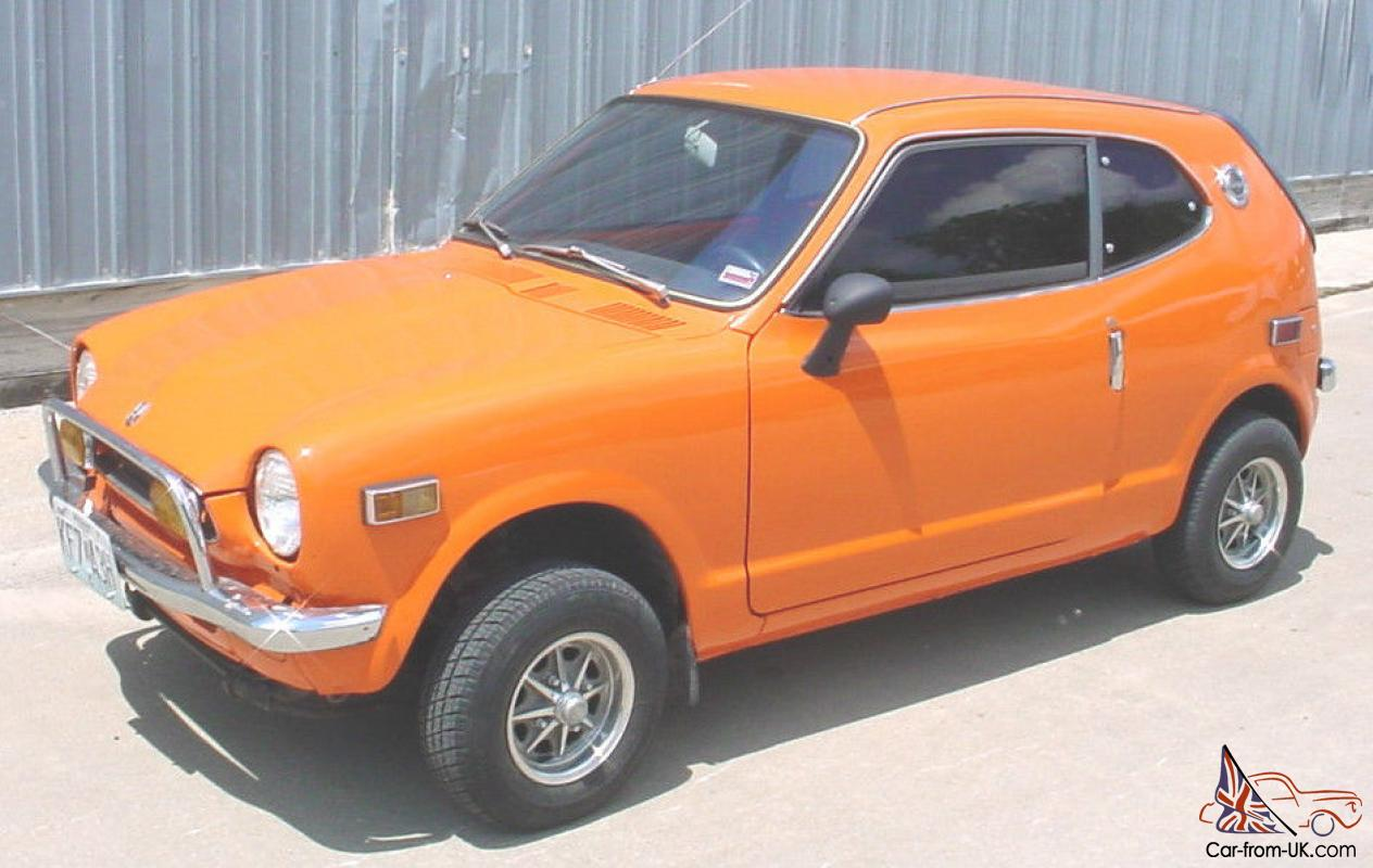Honda 600 Coupe Z600 Z Orange W Mag Wheels Driver Very Sharp Clic Mini Car