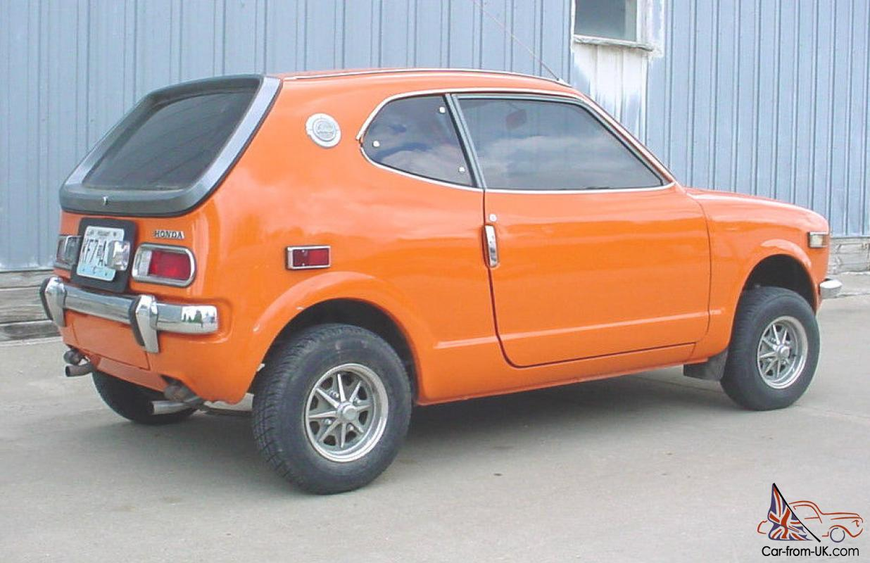 honda 600 coupe z600 z orange w mag wheels driver very sharp classic mini car. Black Bedroom Furniture Sets. Home Design Ideas