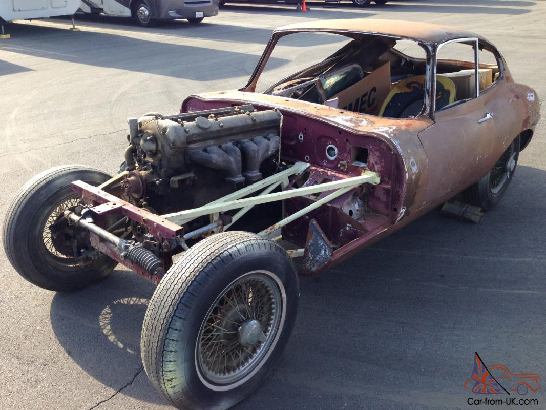 1963 jaguar e-type 3.8 liter fixed head coupe, series one, orig sand