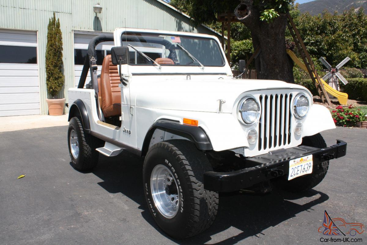 1984 jeep cj7 only 49 800 miles all original ca jeep in excellent condition