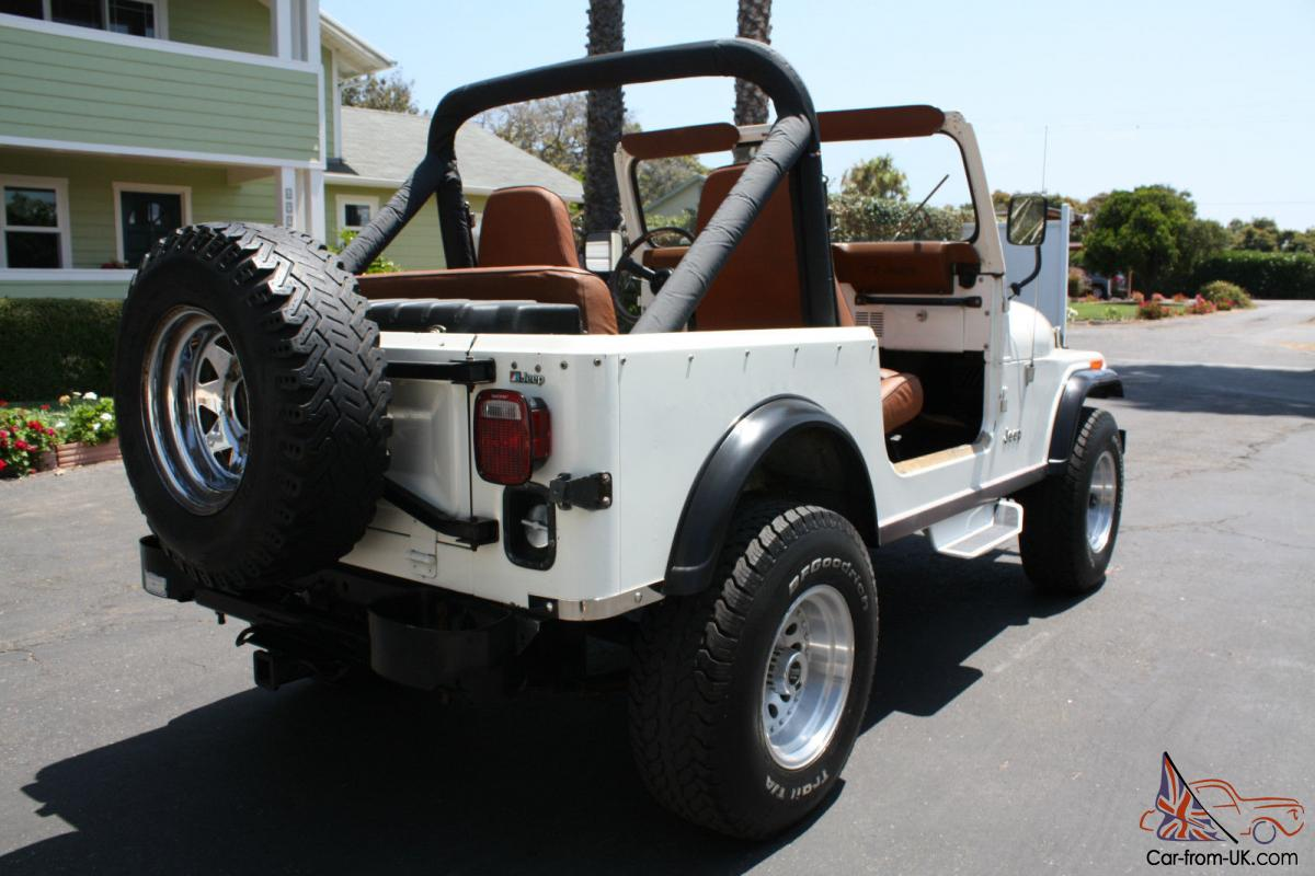 1984 jeep cj7 only 49 800 miles all original ca jeep in excellent condition. Black Bedroom Furniture Sets. Home Design Ideas