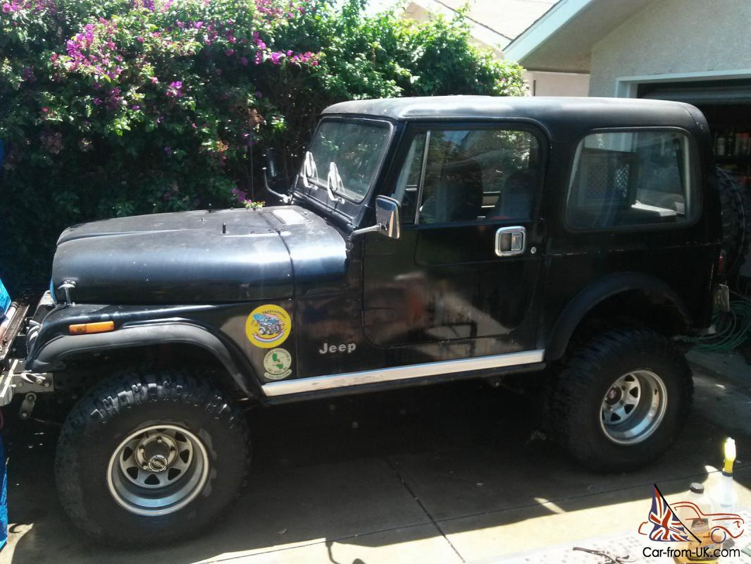 1984 jeep cj7 with many offroad performance accessories. Black Bedroom Furniture Sets. Home Design Ideas