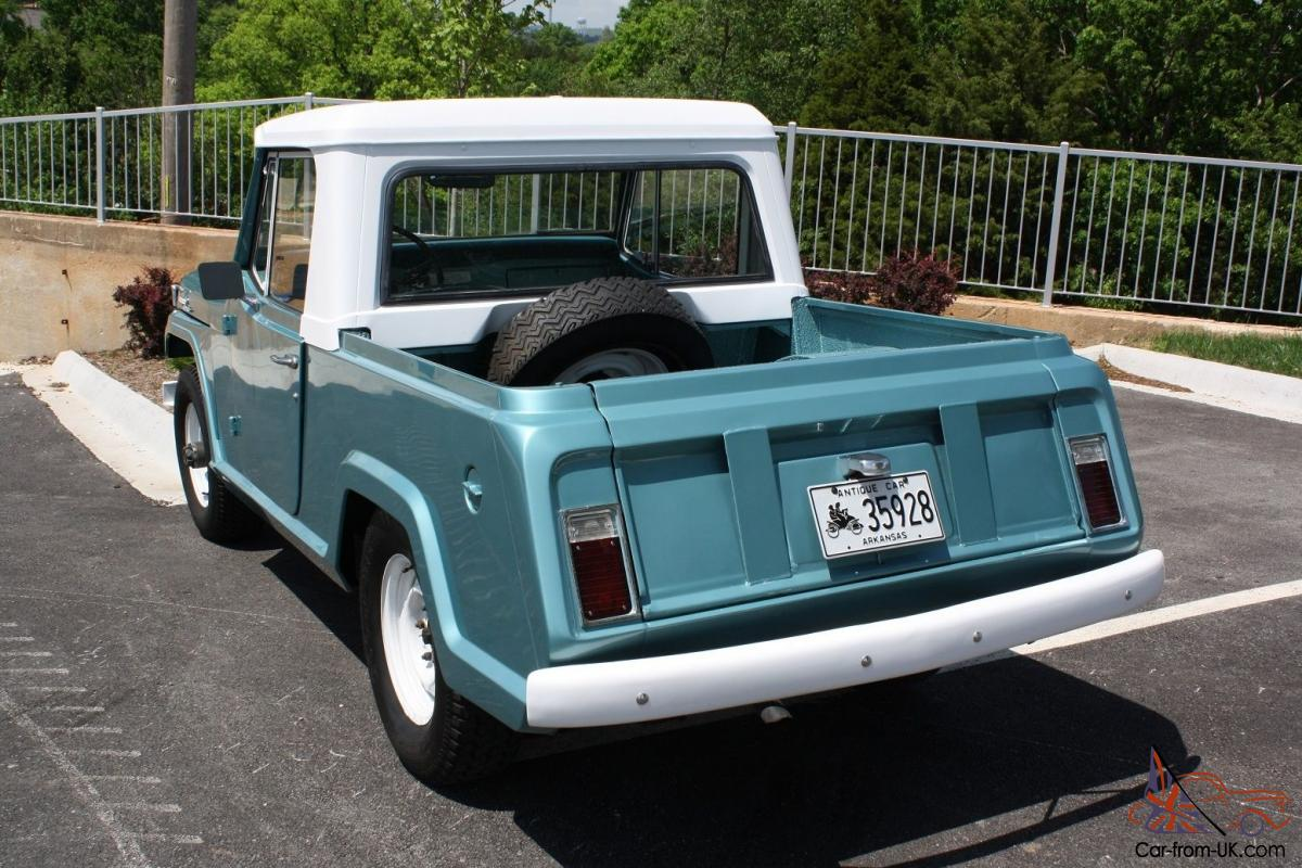1969 kaiser jeep jeepster commando pickup! 225v6 new paint ownership