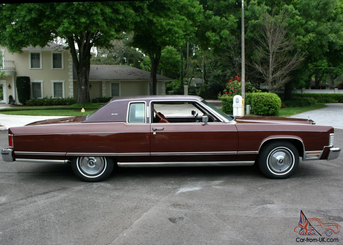 One Owner Low Mile Survivor 1977 Lincoln Town Coupe