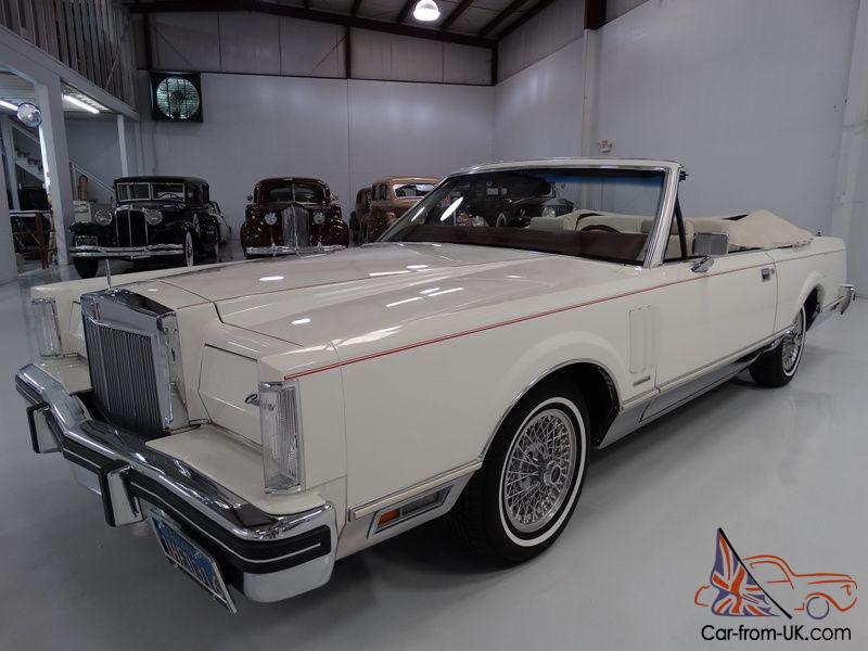 1983 lincoln continental mark vi convertible 29 162 actual miles. Black Bedroom Furniture Sets. Home Design Ideas
