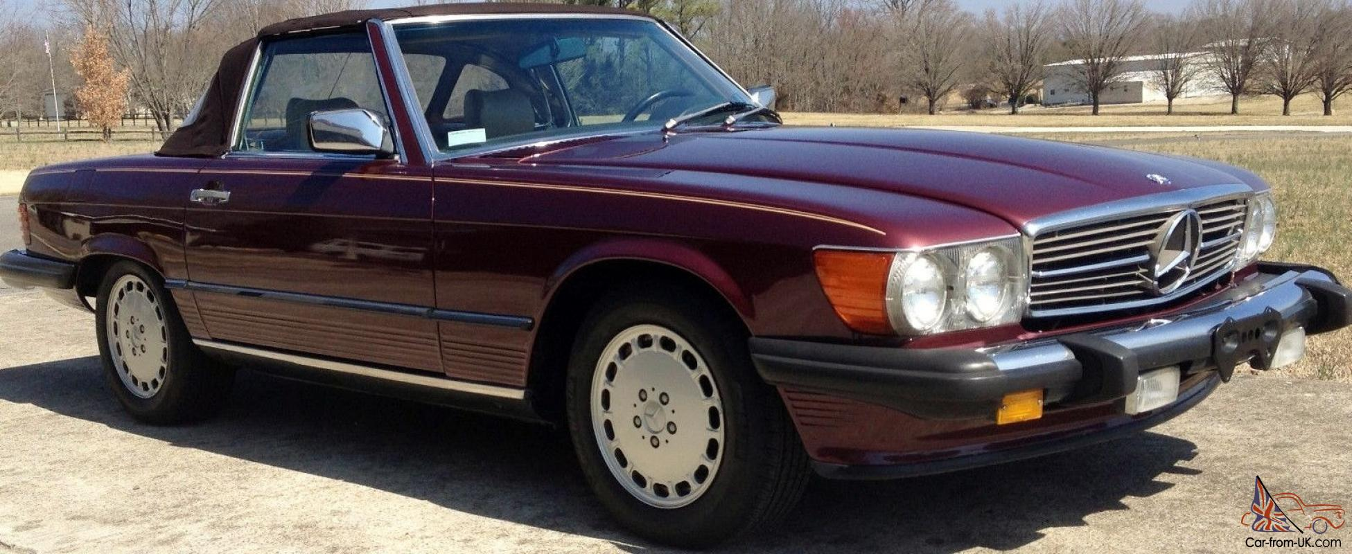 Outstanding 1986 Mercedes 560sl 2 Tops Red Cabernet