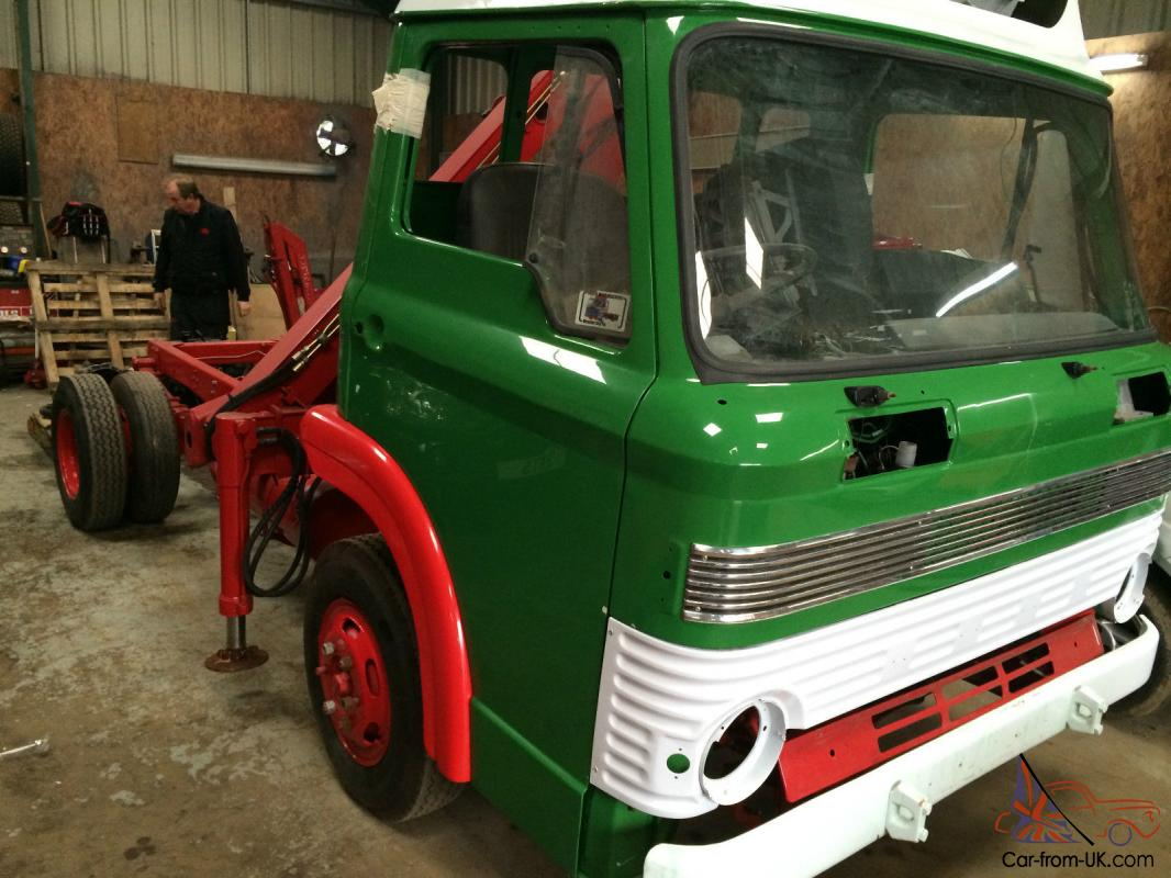 Classic 1972 Ford D Series Lorry Chassis Cab With Crane