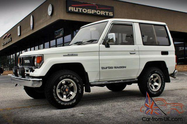 Perfect 1987 Toyota Land Cruiser 2 Door Right Hand Drive RARE From Japan TURBO  DIESEL