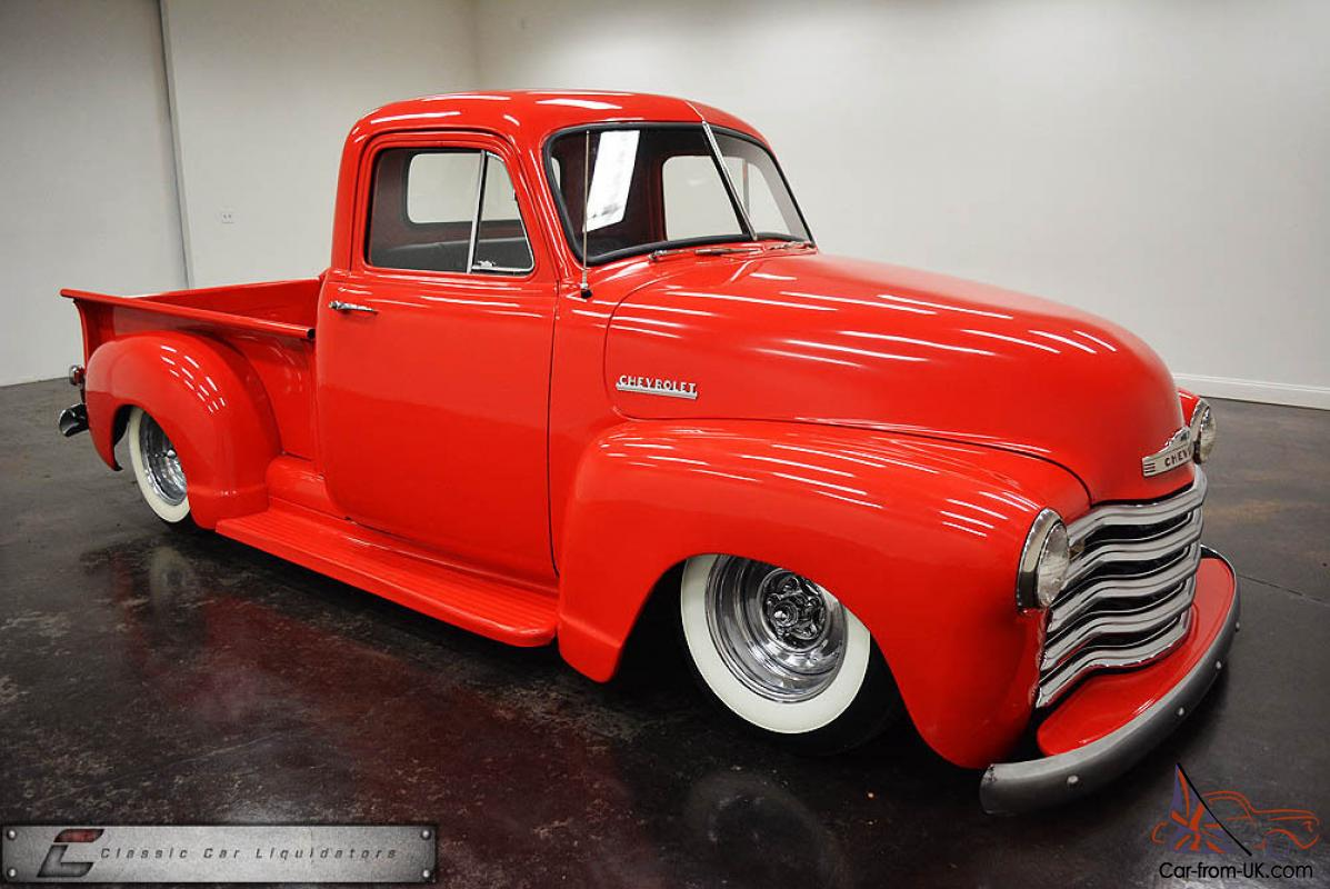 1952 Chevrolet 3100 Pickup Air Ride 250 Inline 6 Th350 Cool Truck 1957 Chevy Camaro Clip