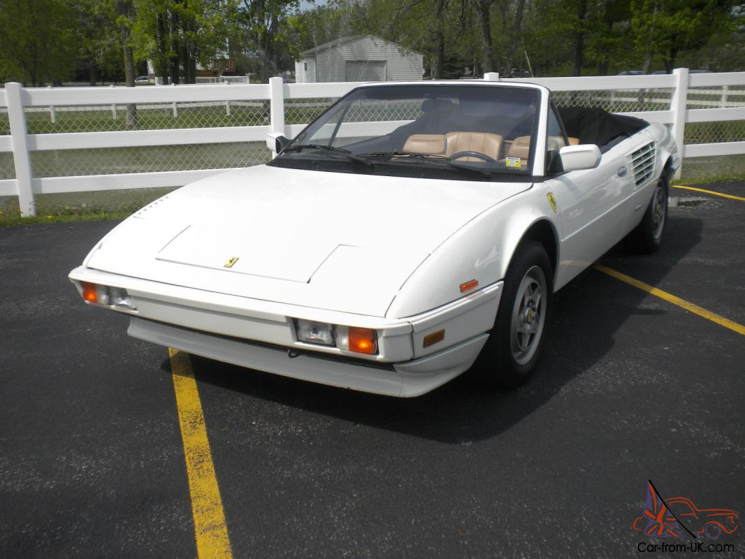 rare 1985 ferrari mondial cabriolet. Black Bedroom Furniture Sets. Home Design Ideas