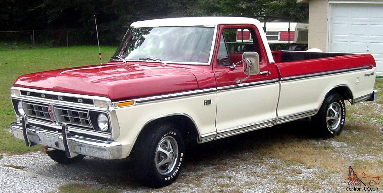 1976 ford f 100 pickup truck 44 500 actual miles. Black Bedroom Furniture Sets. Home Design Ideas