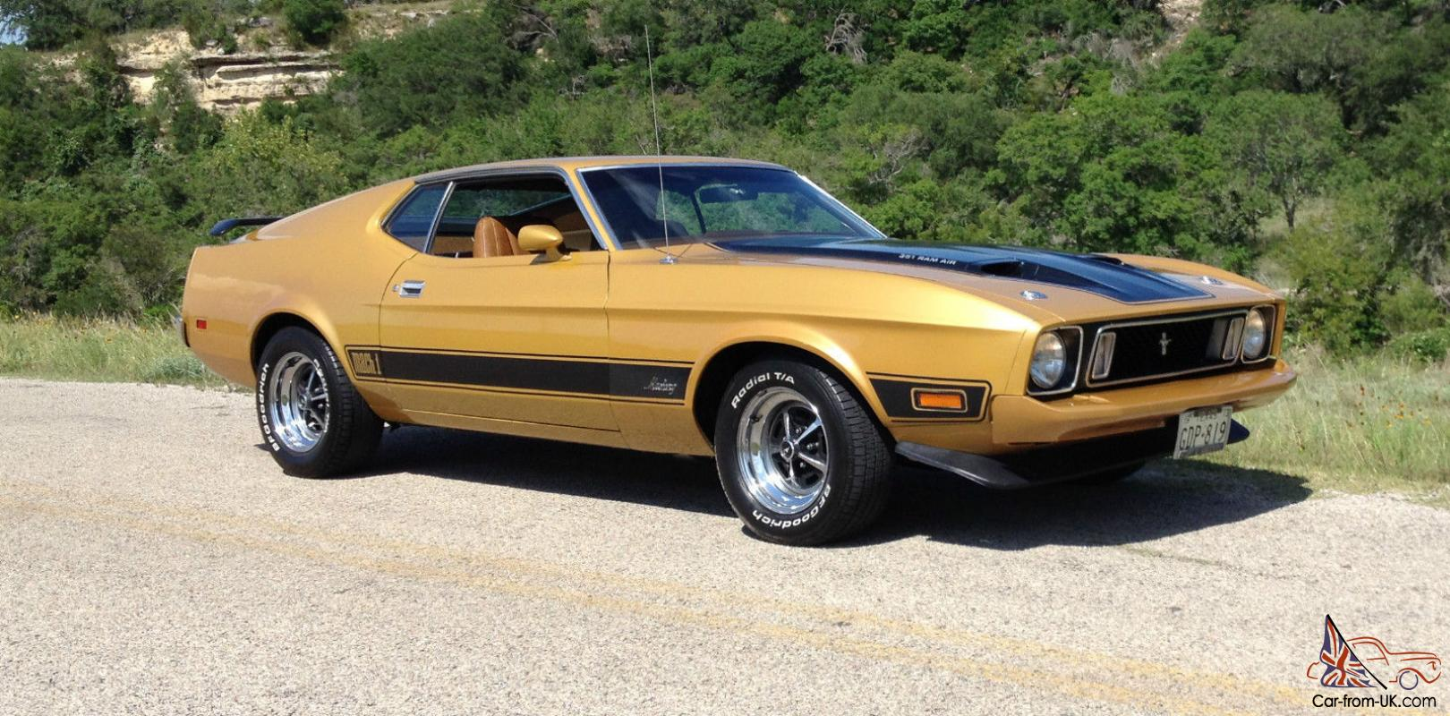1973 mustang mach 1 351 cleveland q code car the last of the cobra jets