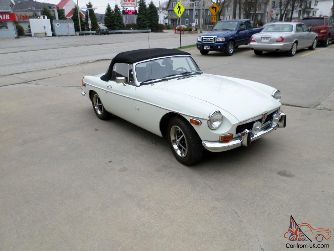 Classic Car Bumpers : Mgb roadster with overdrive last of the classic