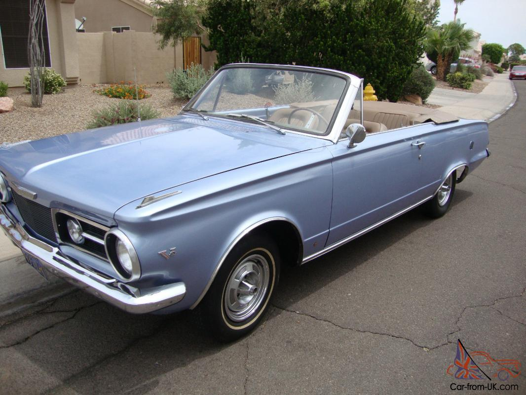 1965 Plymouth Valiant Convertible Signet V8