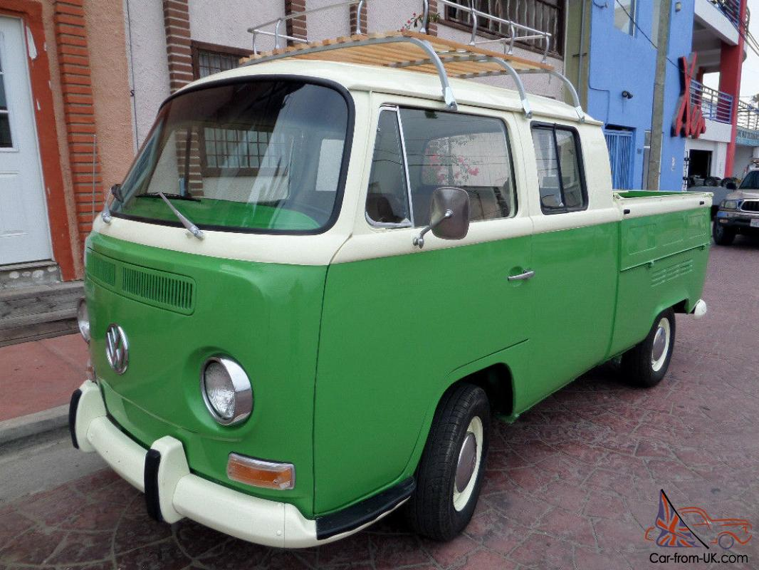 Classic Very Rare 1971 Vw Double Cab Pickup Up Best Year