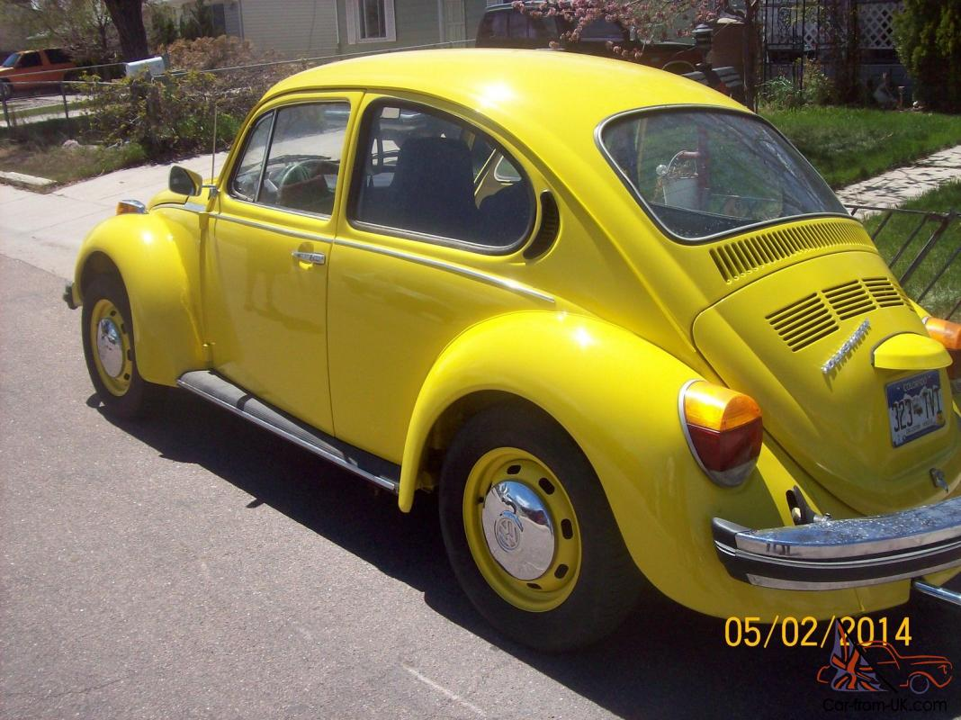 1974 volkswagen super beetle classic totally restored. Black Bedroom Furniture Sets. Home Design Ideas