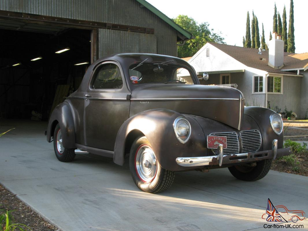 Willys Car: 1940 Willys Coupe, All Steel, Rare Original, SCTA