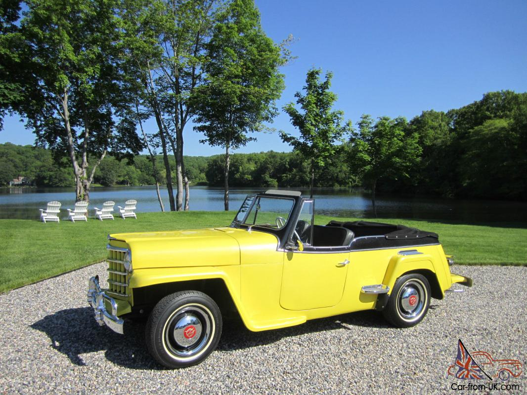 1951 jeep willys jeepster convertible. Black Bedroom Furniture Sets. Home Design Ideas