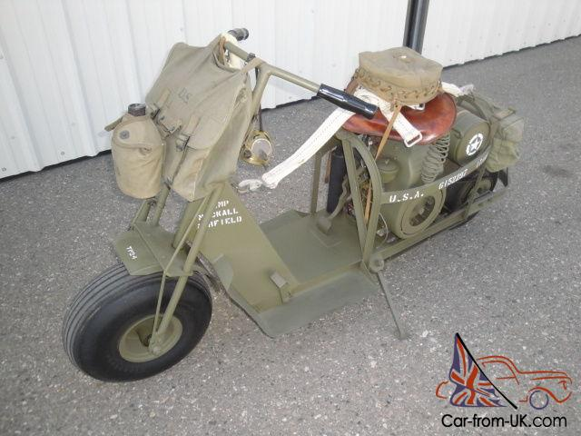 1944 Cushman Model 53 Airborne Scooter Restored Used Regularly