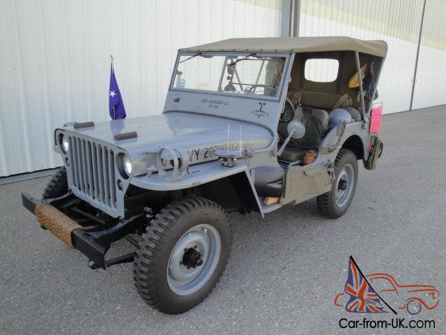 1945 WILLY'S MB 1/4 TON MILITARY JEEP - US NAVY - OLDER RESTORATION