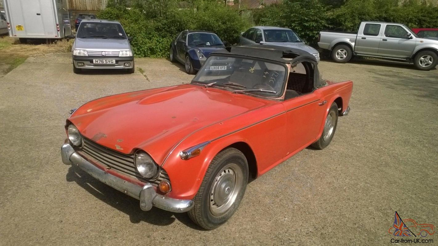 Triumph TR4A 1966,restoration,Project,barn find, import