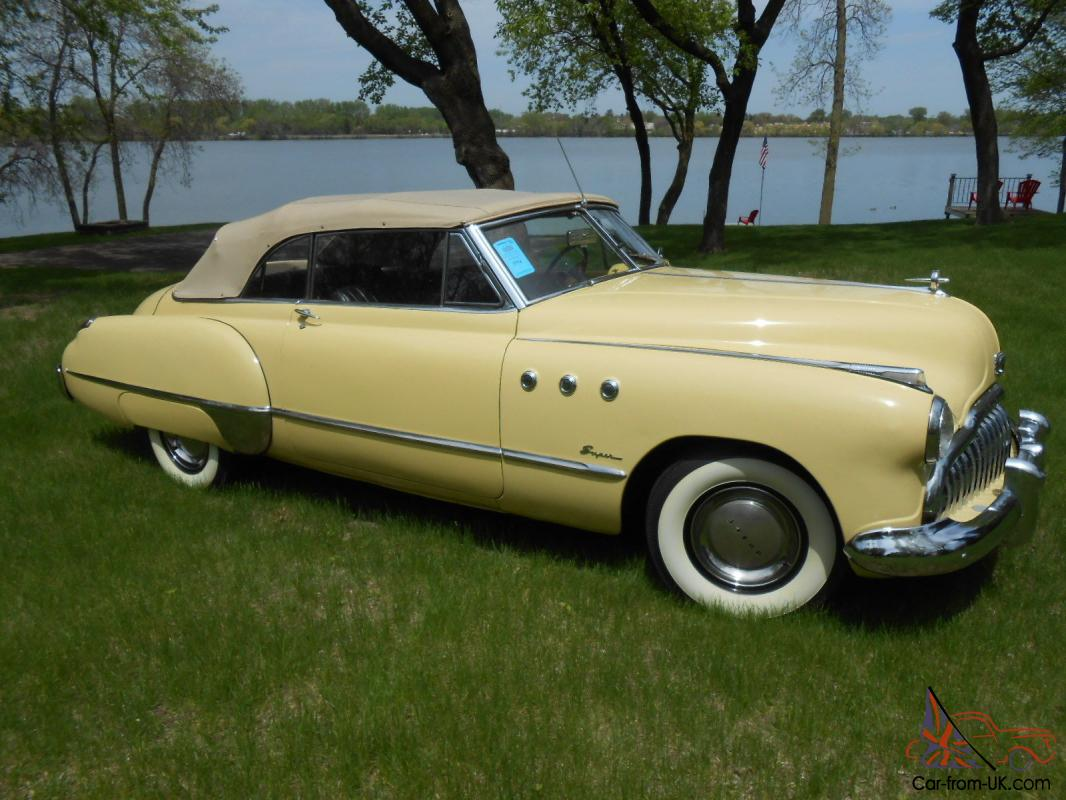 1949 Buick Super 56c Convertible Restored Sequoia Cream