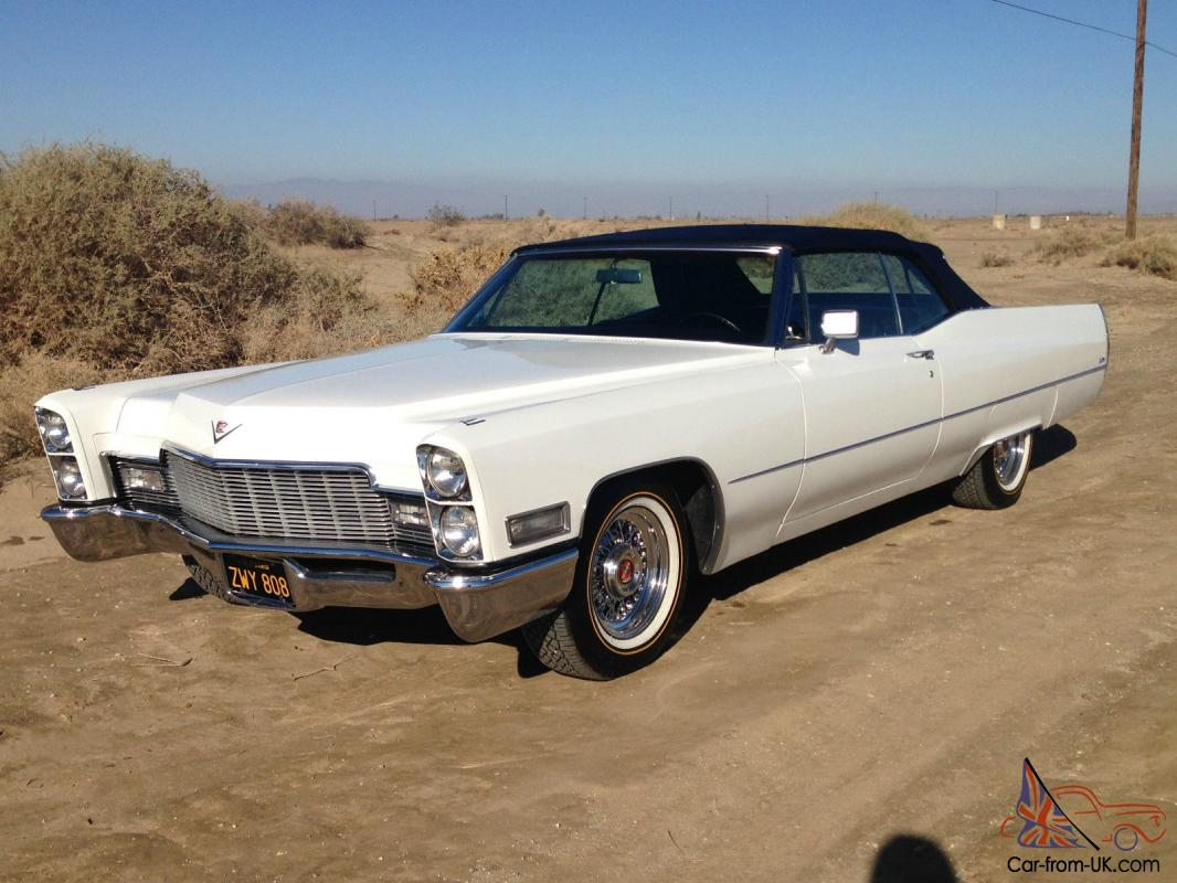 1968 cadillac deville convertible original 55000 miles 472 v8 original ca car. Black Bedroom Furniture Sets. Home Design Ideas
