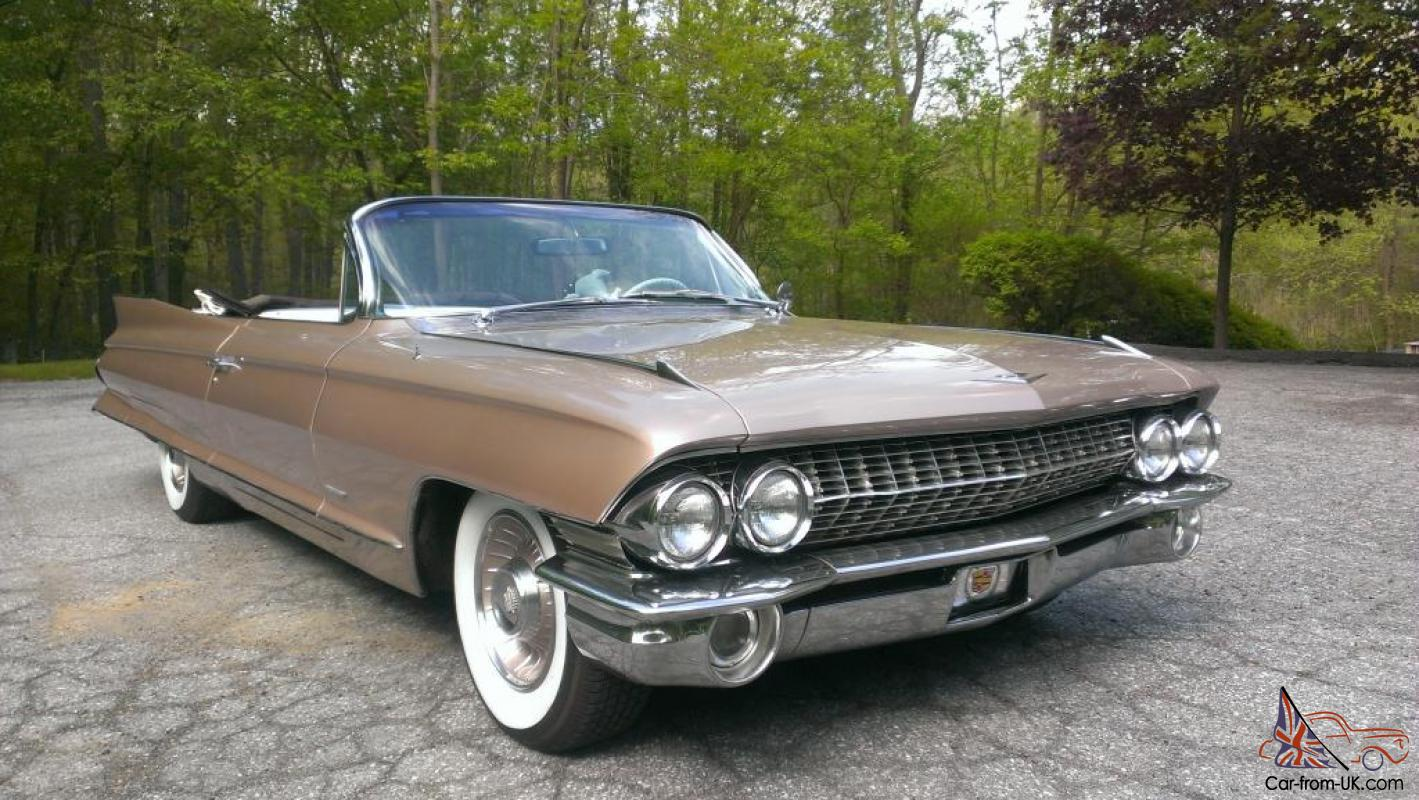 Gorgeous rare 61 cadillac convertible 84k like new not for How much does it cost to list on ebay motors